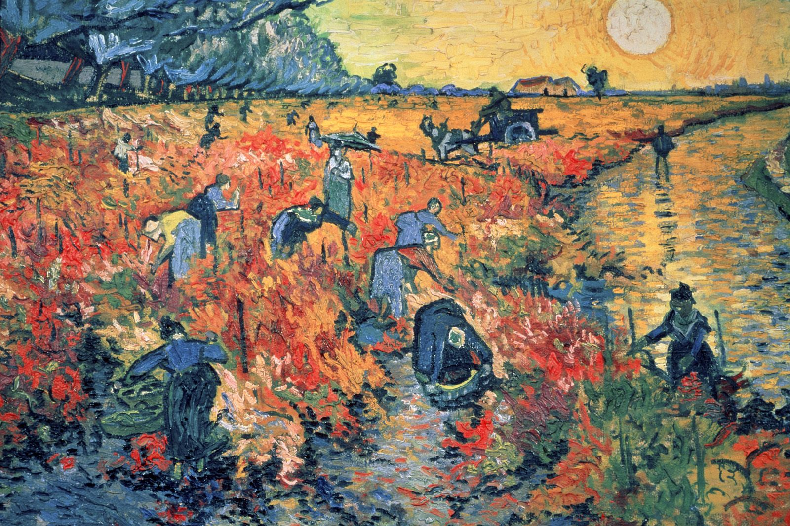 Red Vineyards at Arles, Vincent van Gogh (1888)